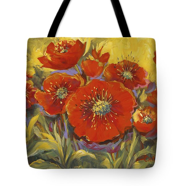 Fortuitous Poppies Tote Bag