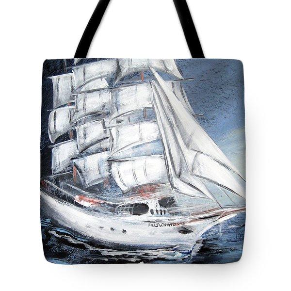 Fortunate. Sailing Ship Tote Bag