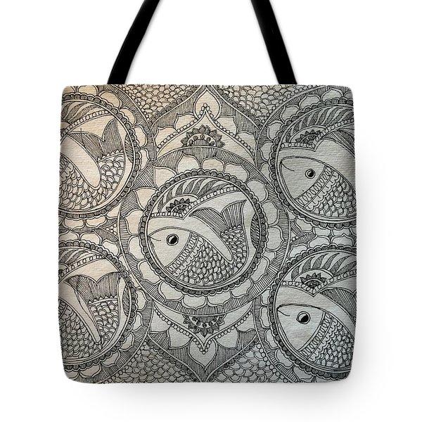 Fortune Fish Tote Bag