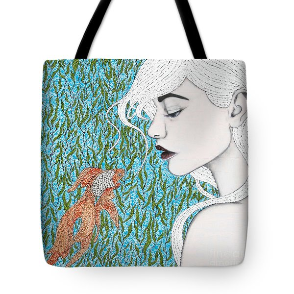 Tote Bag featuring the mixed media Fortune Found Me by Natalie Briney