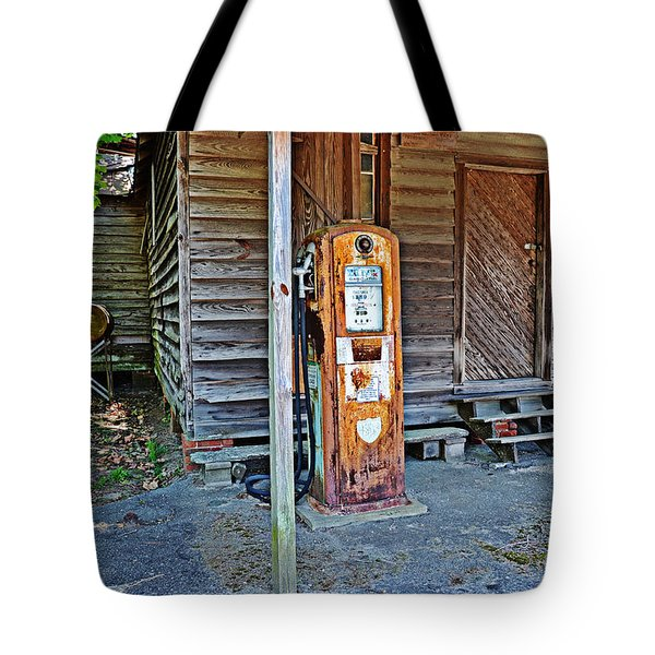 Forty Nine Cents Per Gallon Tote Bag by Linda Brown
