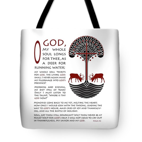 Forty Second Psalm Tote Bag by Lawrence Klimecki