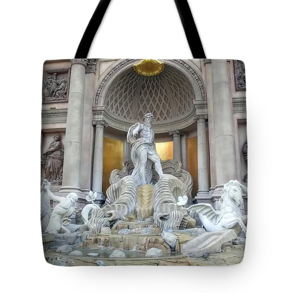 Forum Shops Statues At Ceasars Palace Tote Bag