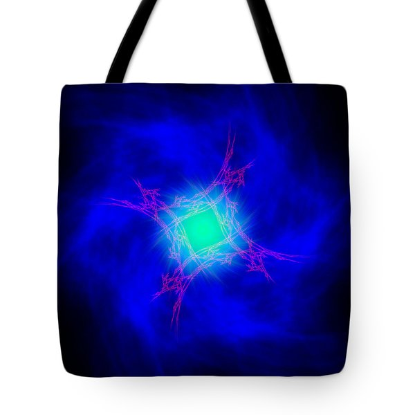 Tote Bag featuring the digital art Forwardons by Andrew Kotlinski