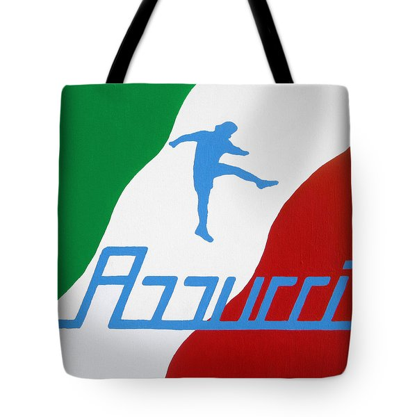 Forza Azzurri Tote Bag by Oliver Johnston
