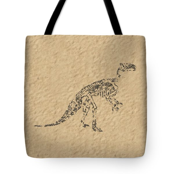 Fossils Of A Dinosaur Tote Bag