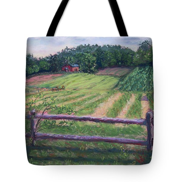 Fosterfields Farm Tote Bag by Laurie Paci