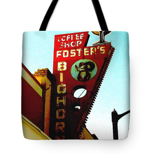 Foster's Bighorn Cafe Tote Bag by Sadie Reneau