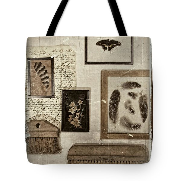 Found Object Assemblage Tote Bag