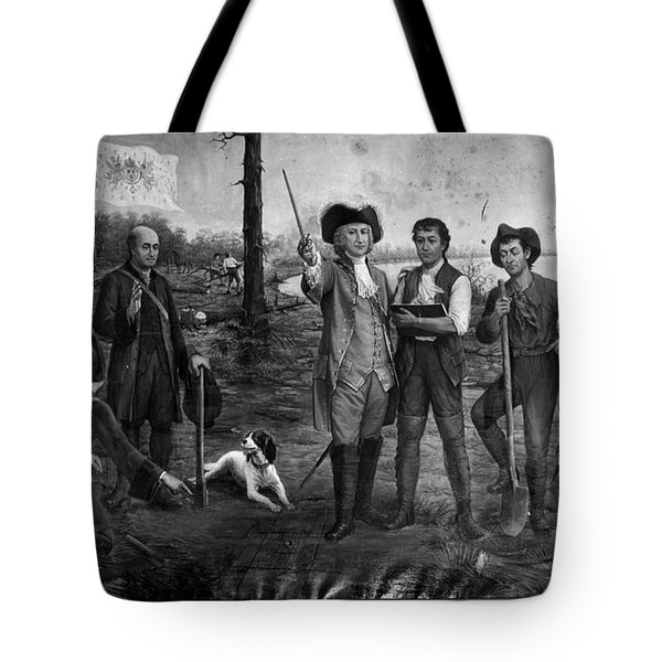 Founding Of New Orleans Tote Bag