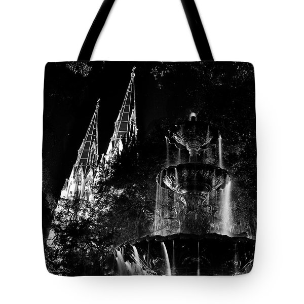 Fountain And Spires Tote Bag by Renee Sullivan