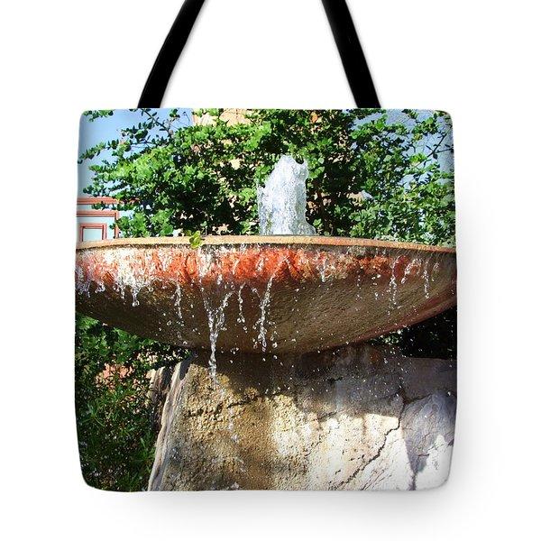Fountain At Taliesen Tote Bag