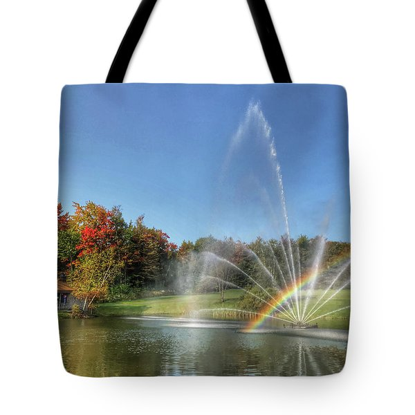 Fountain At Tater Hill Tote Bag