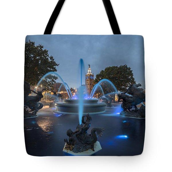Fountain Blue Tote Bag