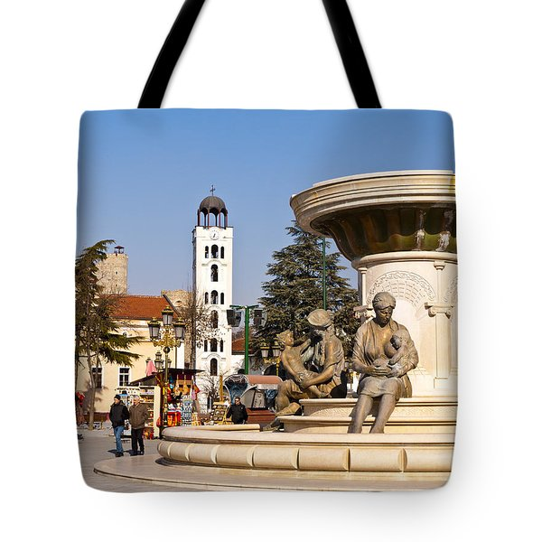Fountain Of The Mothers Tote Bag by Rae Tucker
