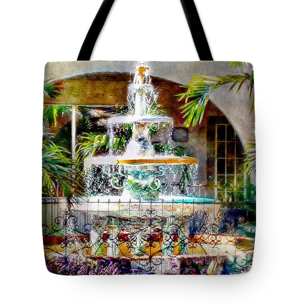 Fountain Of Water Tote Bag