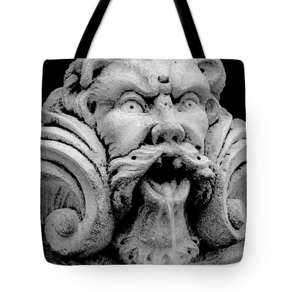 Fountain One  Bw Tote Bag