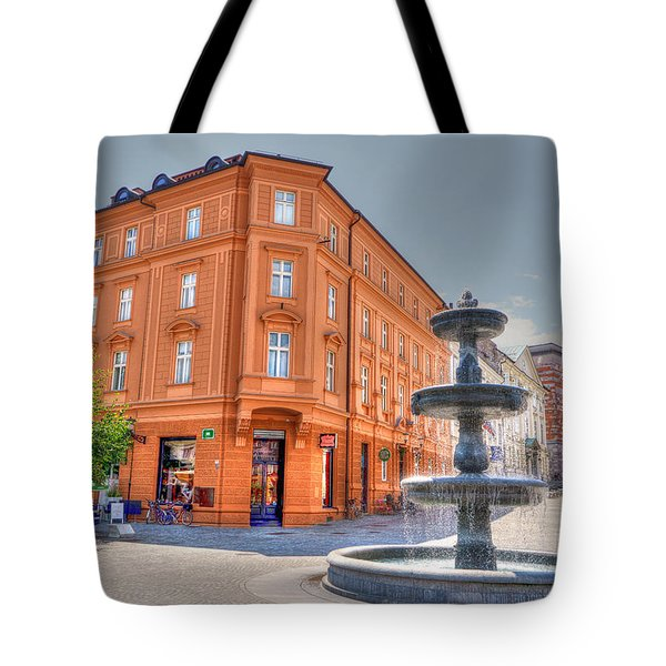 Fountain Tote Bag by Uri Baruch