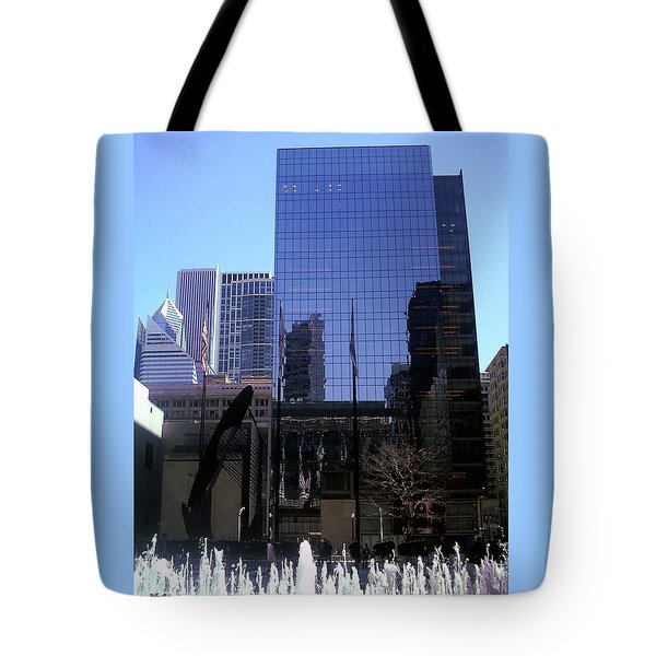 Fountain View Tote Bag