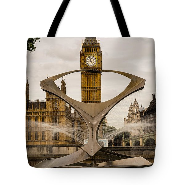 Fountain With Big Ben Tote Bag