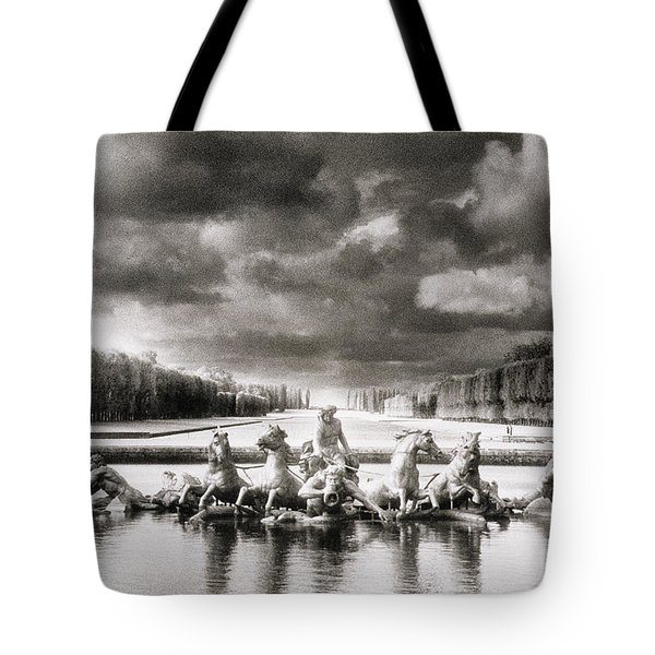 Fountain With Sea Gods At The Palace Of Versailles In Paris Tote Bag by Simon Marsden