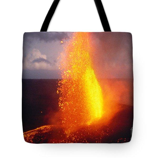 Fountaining Kilauea Tote Bag by Allan Seiden - Printscapes