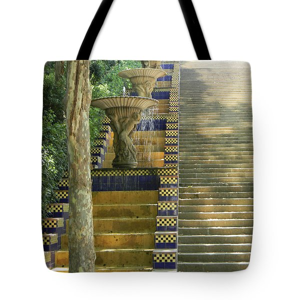 Fountains At Montjuic Tote Bag