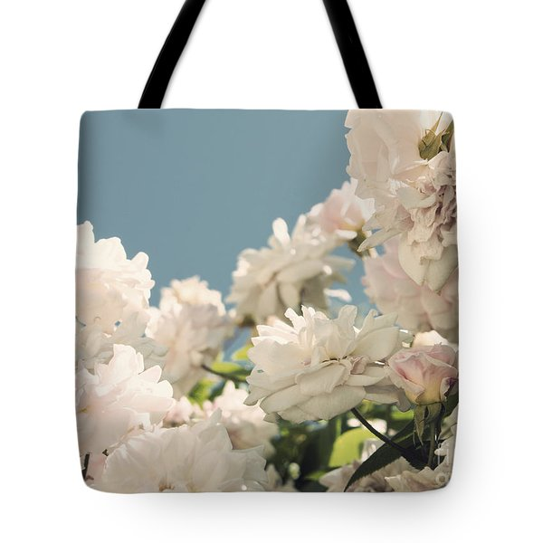 Fountains Of Roses Tote Bag by Cindy Garber Iverson