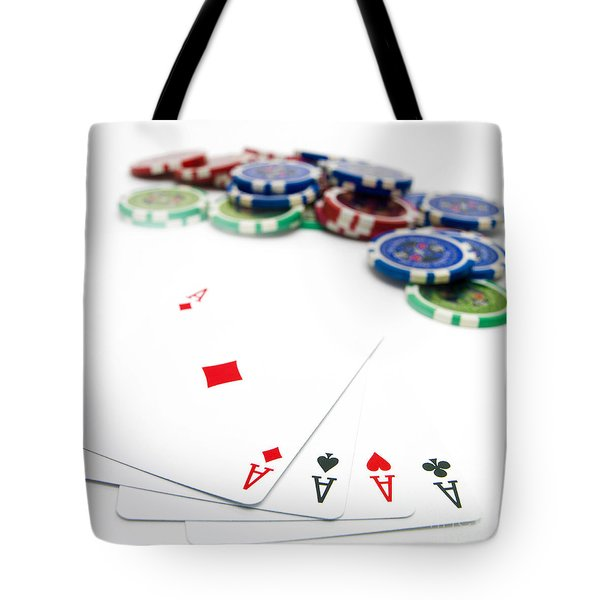 Four Aces And Gambling Tote Bag