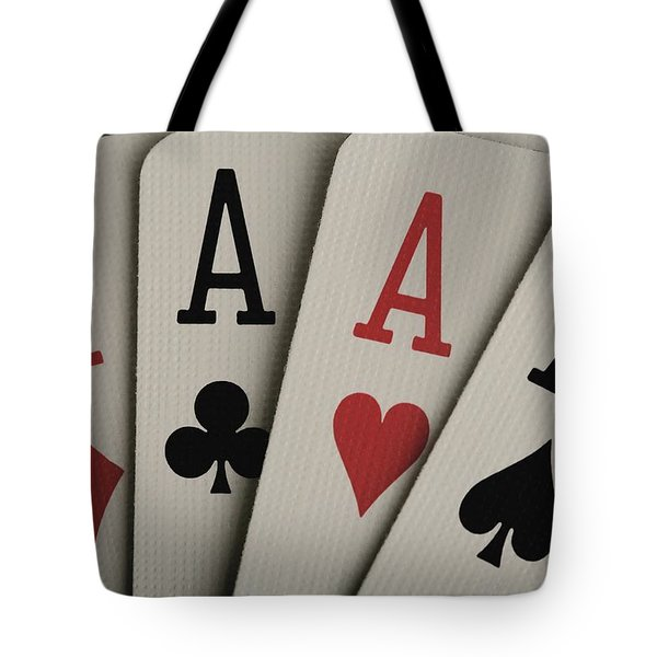 Four Aces Studio Tote Bag by Darren Greenwood