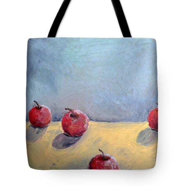 Four Apples Tote Bag