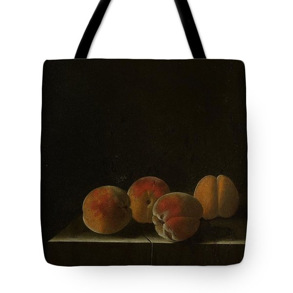 Four Apricots On A Stone Plinth Tote Bag