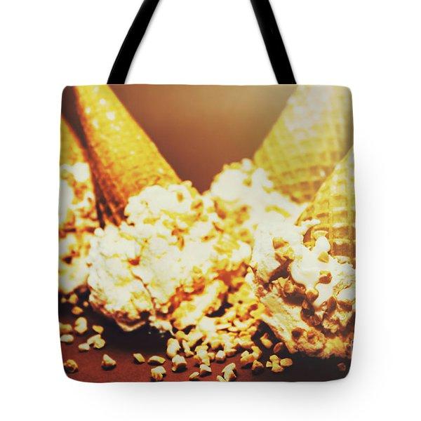 Four Artistic Ice-cream Cones Tote Bag