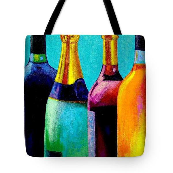 Four Bottles Tote Bag