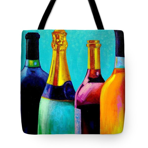 Four Bottles Tote Bag by John  Nolan