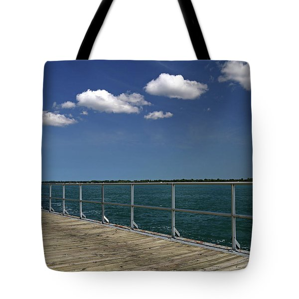Four Clouds Over The Boardwalk Tote Bag