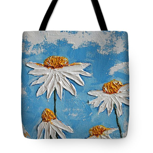 Four Daisies Tote Bag