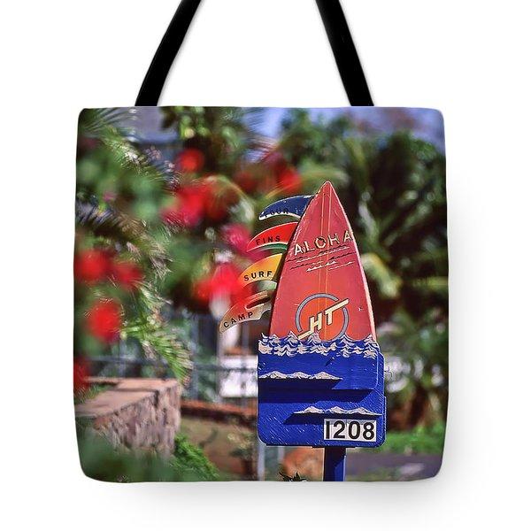 Four Fins Surf Camp Tote Bag