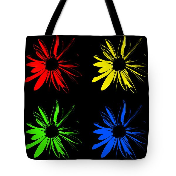 Tote Bag featuring the photograph Four Flowers by Maggy Marsh