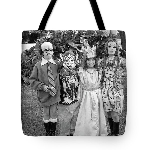 Four Girls In Halloween Costumes, 1971, Part One Tote Bag