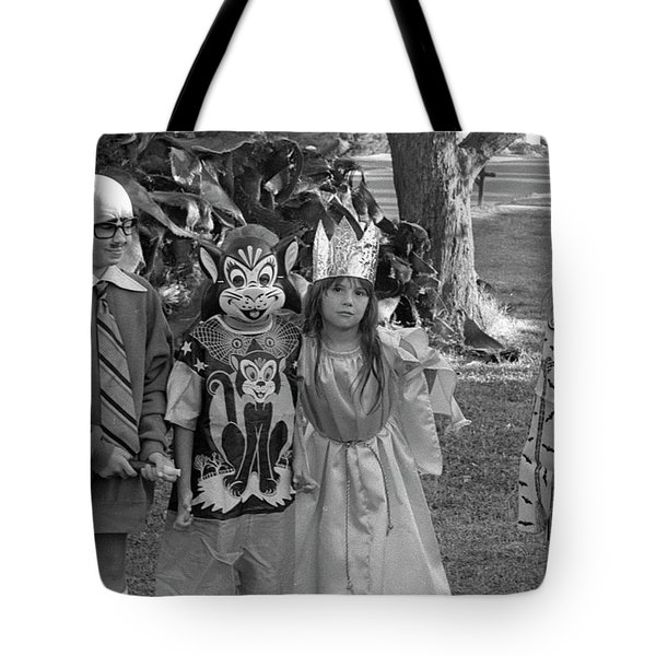 Four Girls In Halloween Costumes, 1971, Part Two Tote Bag