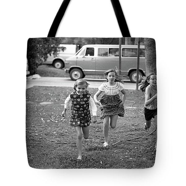 Four Girls Racing, 1972 Tote Bag