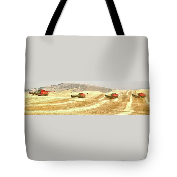 Four Headed In 7013 Tote Bag