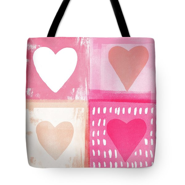 Four Hearts- Art By Linda Woods Tote Bag