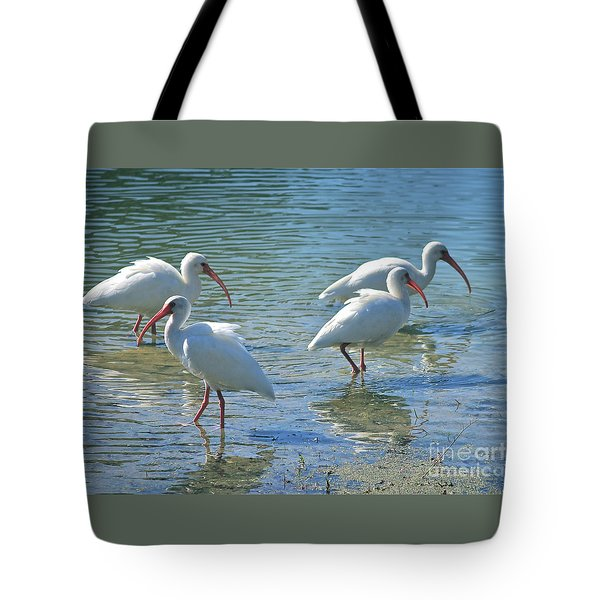 Four Ibises Tote Bag by Carol Groenen