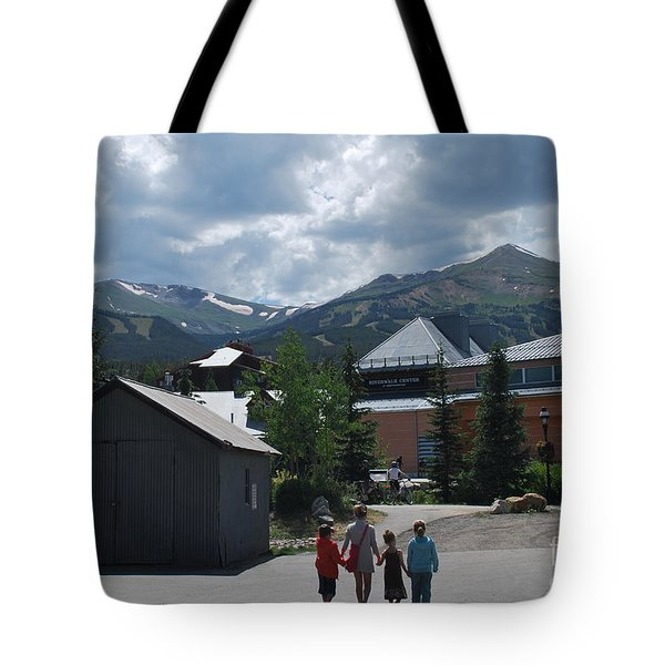 Four Little Children Safe In A Big Beautiful World Telluride Colorado Tote Bag