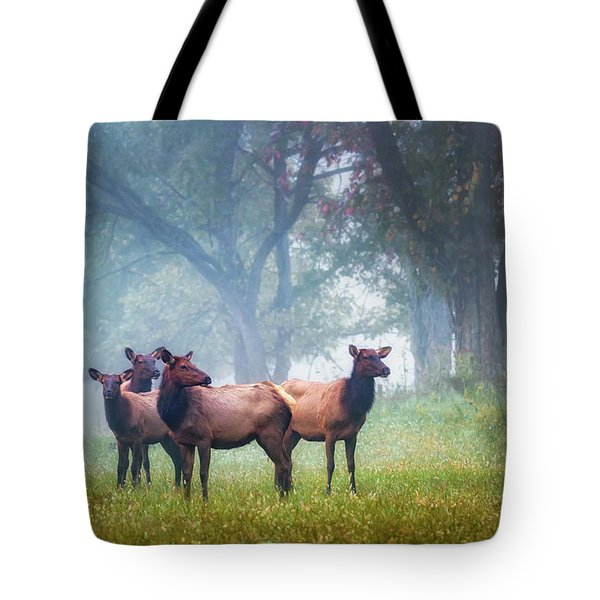 Tote Bag featuring the photograph Four Of A Kind by James Barber