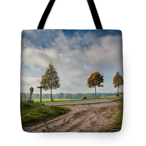 Tote Bag featuring the photograph Four On The Crossroads by Dmytro Korol