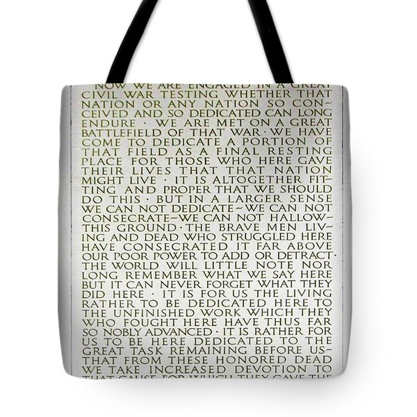 Four Score And Seven Years...... Tote Bag by Allen Beatty