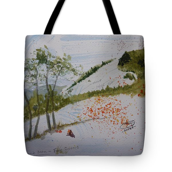 Tote Bag featuring the painting Four Sisters - First Draft by Joel Deutsch